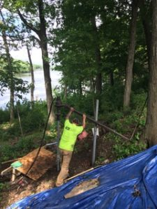 Pier installation to fix deck in WI