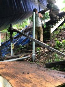 Helical Piers in Deck Repairs