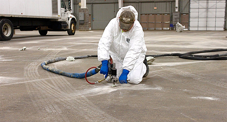 concrete lifting with PolyPier polyurethane foam