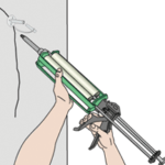 wall crack injection illustration