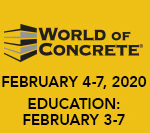 World of concrete event flyer february 4th through the 7th 2020