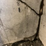 settled and cracked foundation